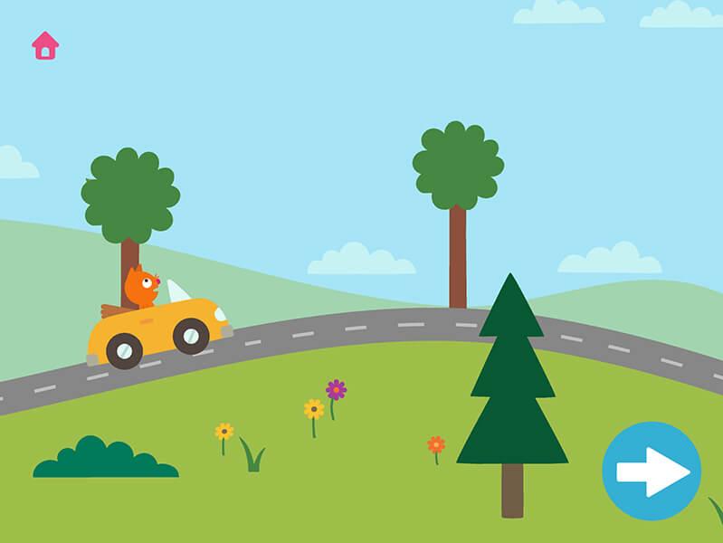 App Road Trip für Kinder