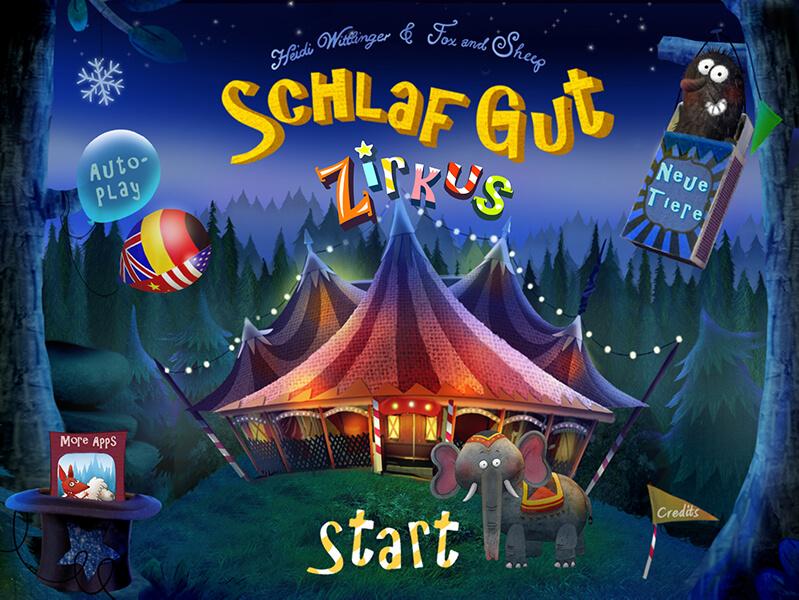 Schlaf gut-App Zirkus für Kinder ab 2 Jahre
